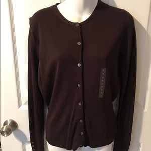 Women's Worthington Button Up Sweater NWT